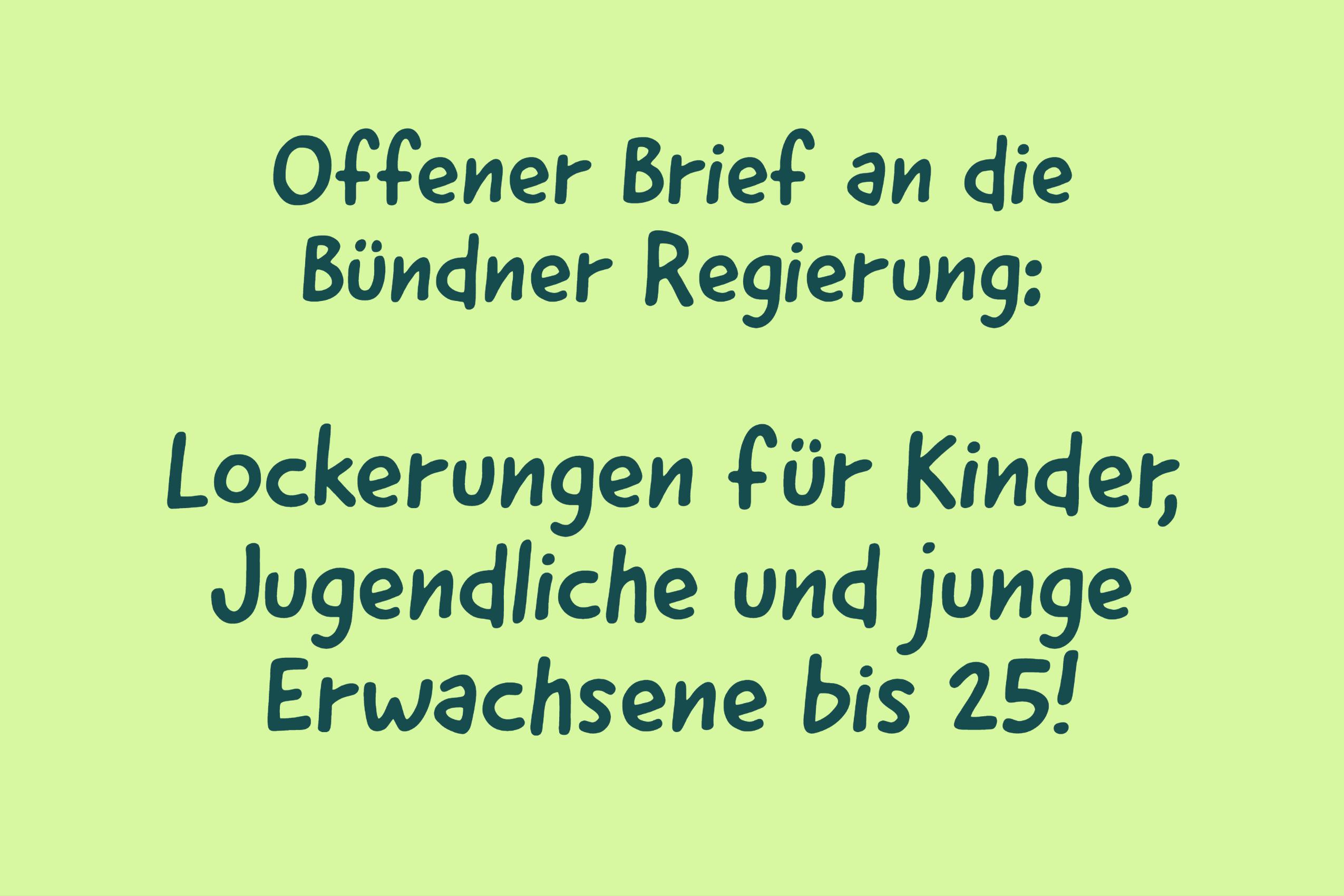 Offener Brief: Kinder und Jugendliche nicht vergessen!